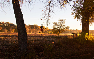 Running nature trails in the Denver area