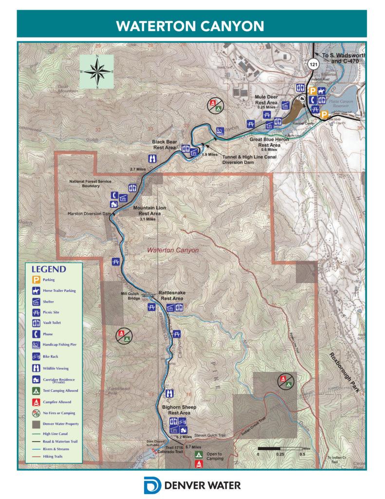 Map of Waterton Canyon