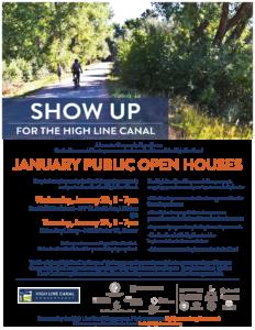 High Line Canal Framework Plan Open Houses January 23 + 24 2019